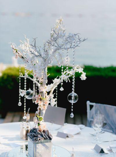 Wedding dinner table reception. Wedding table decoration...