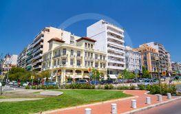 View of Hagia Sophia Square in Thessaloniki, Greece