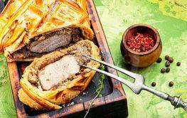 Homemade beef Wellington