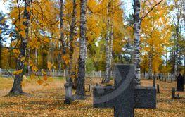 Höst på kyrkogården