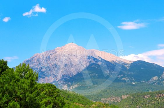 Mountain Olympos (Turkey) against the blue sky....