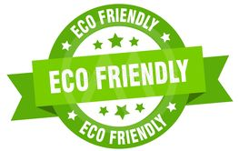 eco friendly ribbon. eco friendly round green sign. eco...