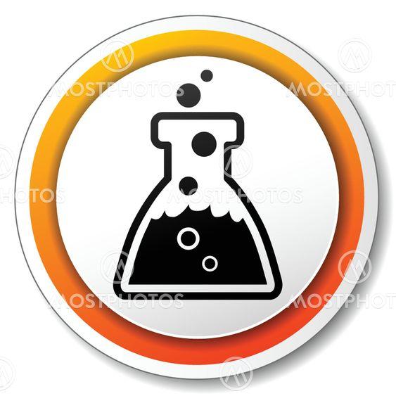 chemistry orange icon