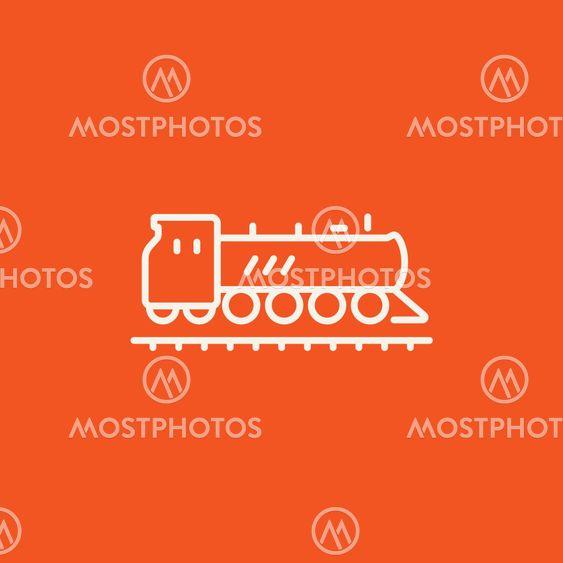 Train line icon.