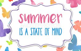 Summer is a state of mind. Watercolor banner
