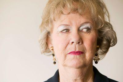 Senior Woman Looking Right