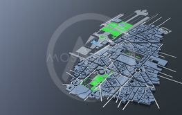 3D futuristic city architecture