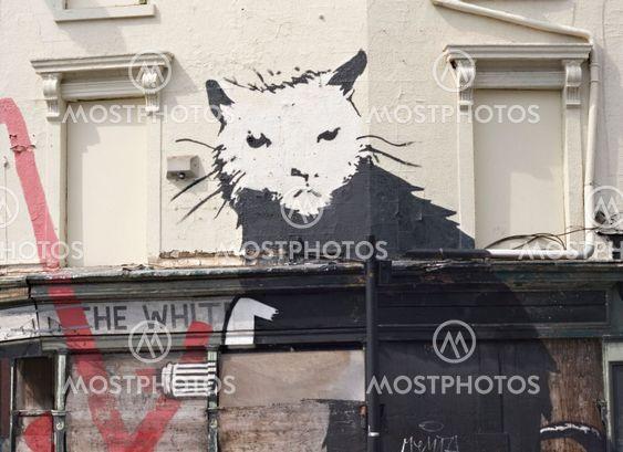 Graffiti rotte af berømte gade kunstner Banksy