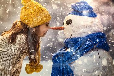 flickan och snögubben
