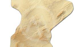 Relief map - Siliana (Tunisia) - 3D-Rendering