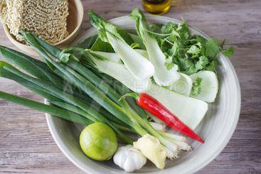 Vegetables in bowl