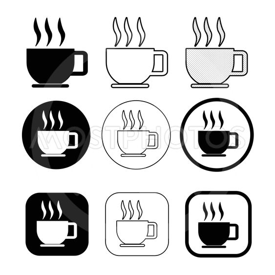 Simple coffee icon sign design