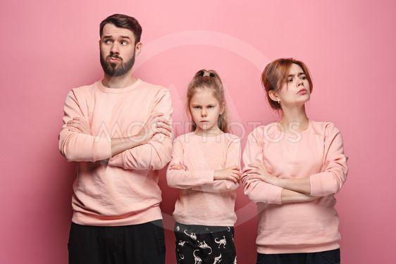 "The sad family on pink"" by Volodymyr Melnyk - Mostphotos"