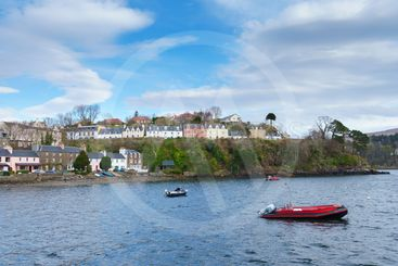Portree town, Isle of Skye, Scotland, United Kingdom.