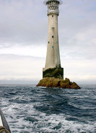 A boat trip to the Bishop Rock lighthouse, Isles of Scilly.