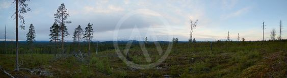 Panoramic view at Dusk from peak of Granberget in...