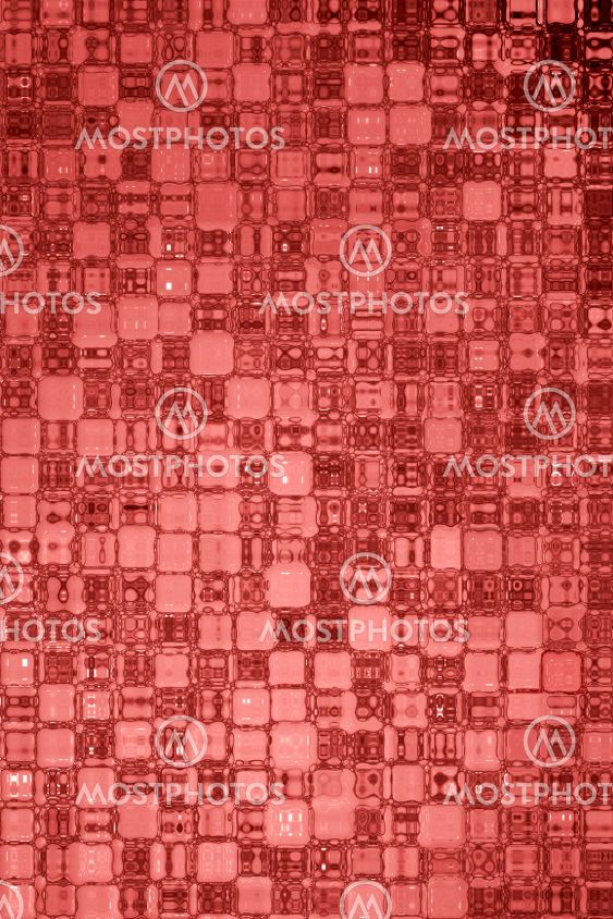 Red glass pattern abstract background.
