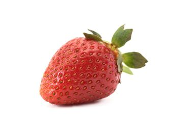Red strawberry on a white background