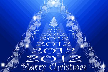 Beautiful background of merry christmas 2012