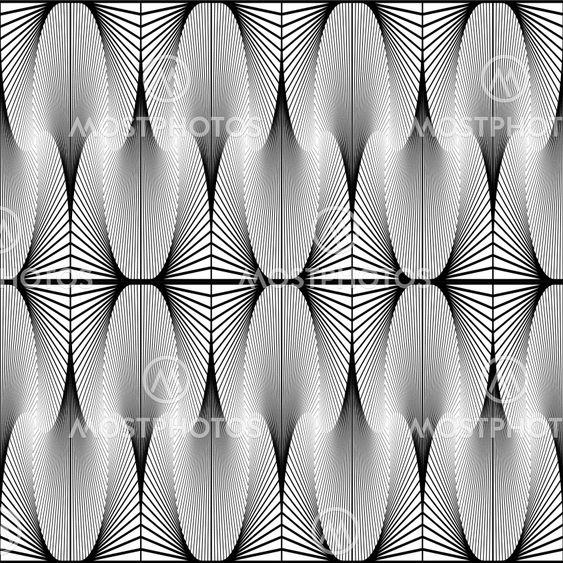 Design seamless monochrome decorative pattern. Abstract...