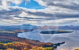 Mooselookmeguntic Lake at autumn, Maine, USA.