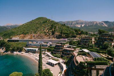 Budva, Montenegro - 07 june 2020: Dukley Gardens complex...