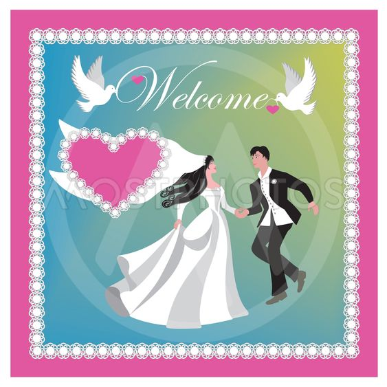 Vector illustration for marriage invitation