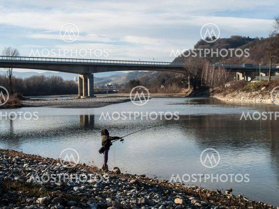 Fishing river Drava