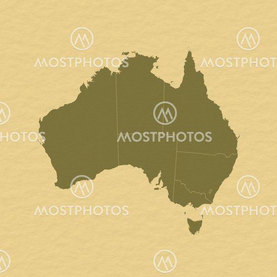 Kort Over Australien Fra Steffen Hammer Mostphotos