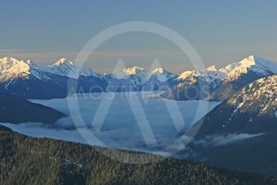 Olympic Mountain range, Olympic National Park,...