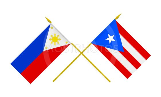Flags, Philippines and Puerto Rico