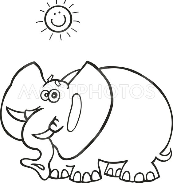 Elefante africano para colo...\