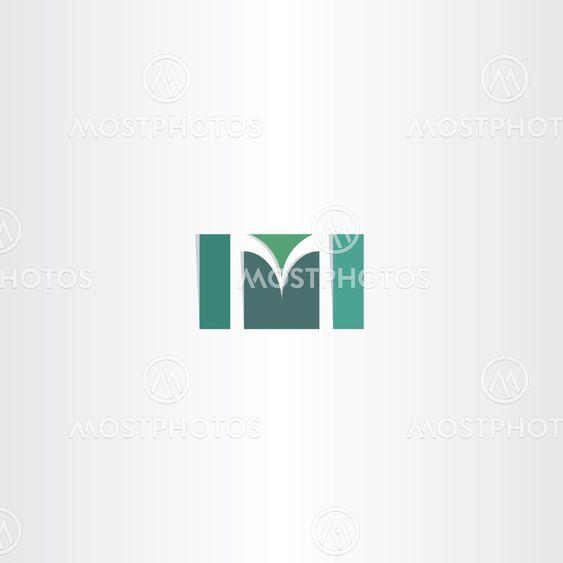 dark green letter m logo vector symbol