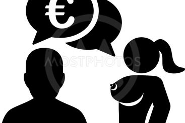 Euro Adult Chat Flat Icon