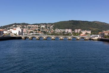bridge over river in the north of Galicia