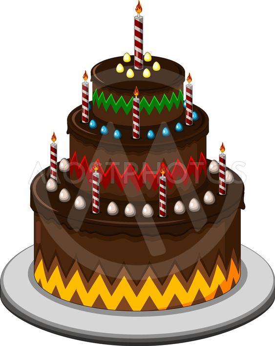 Excellent Big Cartoon Birthday Cake By Sujono Sujono Mostphotos Funny Birthday Cards Online Kookostrdamsfinfo