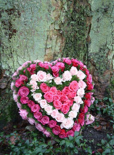 Heartshaped flower arrangement