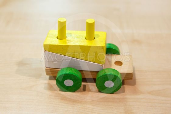 Colorful Wooden Train Toy