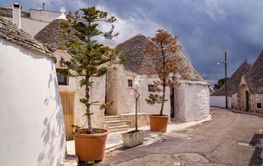 The typical houses of Alberobello town in southern Italy