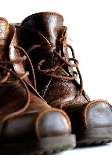 Male leather boots