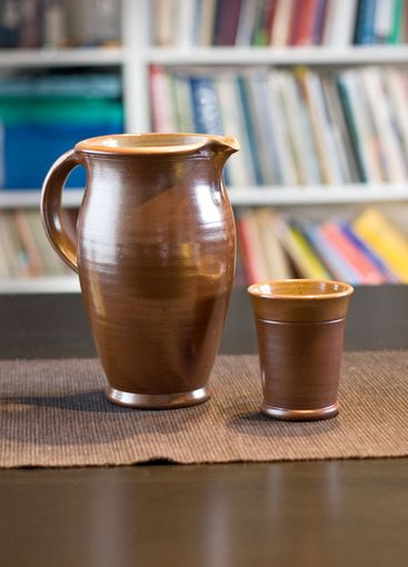 potted jug with cup