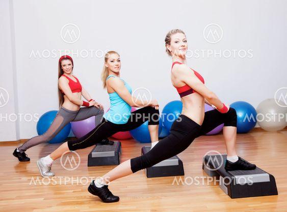 Girls on fitness training