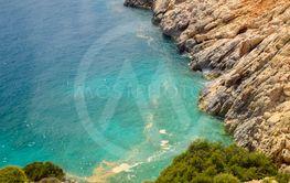 Coastal cliffs of limestone. The coast of Mediterranean...