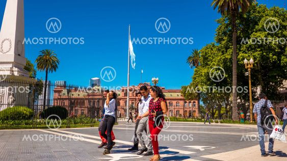 View on the famous Casa Rosada in Buenos Aires