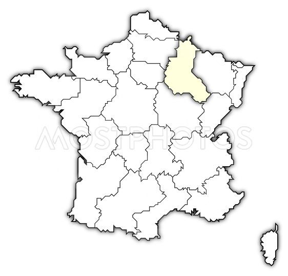 Map Of France Champagne Ar By Steffen Hammer Mostphotos
