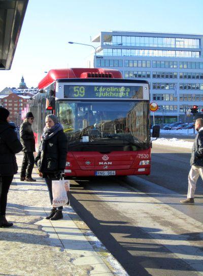 SL Buss på klarabergsviadukten