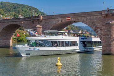 River Cruise Ship at Heidelberg
