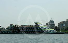 Passenger ship sailing Nile river, Cairo, Egypt