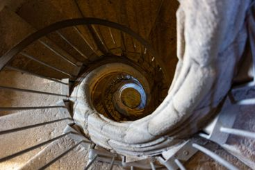 Circular stairs of a tower of a church