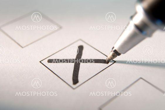 Marking A Tick Box